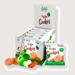 Печенье Solvie Protein Cookies 10 50 г, 10 шт., яблочное с корицей и кусочками яблок