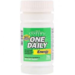 21st Century - One Daily Energy - 75 таблеток - витамины от A до Zn