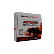 Батончик IRONMAN Protein Bar с коллагеном - 6шт. по 50 г карамель/темная глазурь
