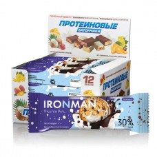 Батончик IRONMAN Protein bar без глазури 12штx50г печенье