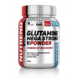 Добавка NUTREND Glutamine Mega Strong - 500 г пунш-клюква