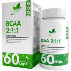 Аминокислоты БЦАА в капсулах NATURALSUPP BCAA 2:1:1 800мг - 60 капсул