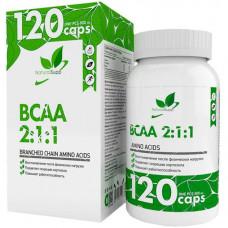 Аминокислоты БЦАА в капсулах NATURALSUPP BCAA 2:1:1 800мг - 120 капсул