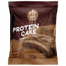 Fit Kit Protein Cake 70 г мини-набор из 3 шт Двойной шоколад