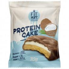 Fit Kit Protein Cake 70 г мини-набор из 3 шт Тропический кокос