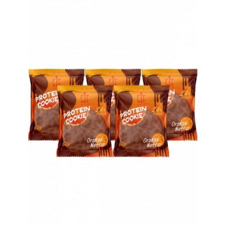 Печенье Fit Kit Chocolate Protein Cookie 5 50 г, 5 шт., апельсиновый нектар