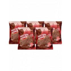 Печенье Fit Kit Chocolate Protein Cookie 5 50 г, 5 шт., клубничное варенье