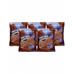 Печенье Fit Kit Chocolate Protein Cookie 5 50 г, 5 шт., черничное парфе