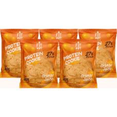Печенье Fit Kit Protein Cookie 5 40 г, 5 шт., апельсиновый сок