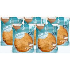 Печенье Fit Kit Protein Cookie 5 40 г, 5 шт., кокосовый крем