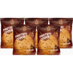 Печенье Fit Kit Protein Cookie 5 40 г, 5 шт., кофе