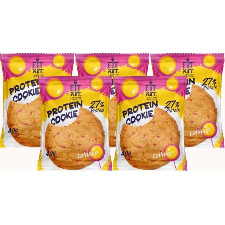 Печенье Fit Kit Protein Cookie 5 40 г, 5 шт., леденец