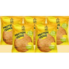 Печенье Fit Kit Protein Cookie 5 40 г, 5 шт., лимон/лайм