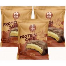 Печенье Fit Kit Protein Cake 3 70 г, 3 шт., арахисовая паста