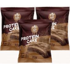 Печенье Fit Kit Protein Cake 3 70 г, 3 шт., двойной шоколад
