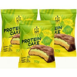 Печенье Fit Kit Protein Cake 3 70 г, 3 шт., лимон/лайм