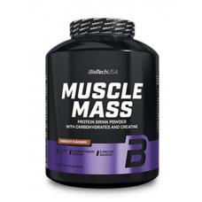 Гейнер BioTech Muscle Mass, 1000 г - клубника