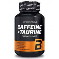 Предтренировочный комплекс BioTech Caffeine and Taurine Power Force 100 г без вкуса