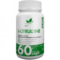 Л-цитруллин NATURALSUPP L-Citrulline 750 мг - 60 капсул