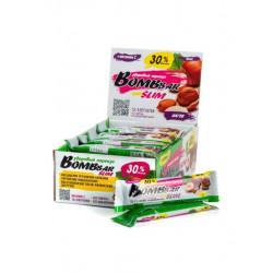 Батончик Bombbar Slim Bar 30 35 г, 30 шт., арахис фундук