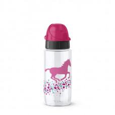 Бутылка Emsa Drink2Go Лошадь 518302 500 мл белая, розовая
