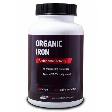 Биодоступное железо Protein.Company Organic Iron 120 капсул