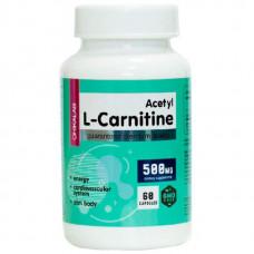 Ацетил Л-карнитин BOMBBAR Chikalab Acetyl L-Carnitine 500 мг - 60 капсул