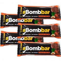 Батончик Bombbar Protein Bar In Chocolate 5 40 г, 5 шт., фундучное пралине
