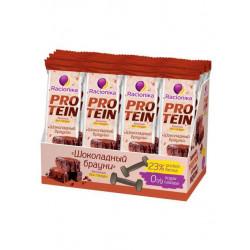 Батончик Racionika Protein 16 45 г, 16 шт., шоколадный брауни