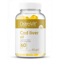 Рыбий жир Омега-3 Ostrovit Cod liver oil, 60 капсул