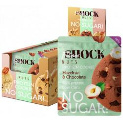 Печенье FitnesSHOCK Protein Cookie Nuts 12 40 г, 12 шт., шоколад/лесной орех