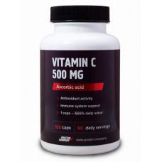 Аскорбиновая кислота Protein.Company Vitamin C 500 mg 120 капсул