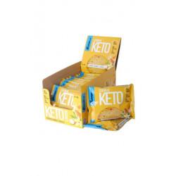Печенье Bombbar Keto Cookie 12 40 г, 12 шт., ваниль/миндаль