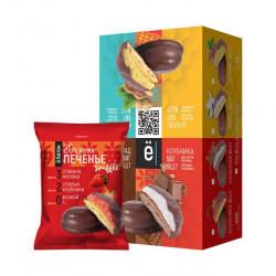 ё|батон Протеиновое печенье с суфле 50г Клубника - коробка 9шт