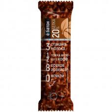 ёбатон Протеиновый батончик с орехами 40г Арахис-кофе - коробка 20шт
