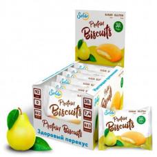 Печенье Solvie Protein Biscuits Груша 40г - коробка 10шт