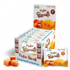 Печенье Solvie Protein Biscuits Карамель 40г - коробка 10шт