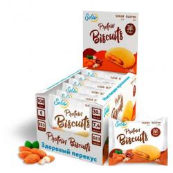 Печенье Solvie Protein Biscuits Шоколад-миндаль 40г - коробка 10шт
