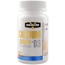 Кальций и витамин Д3 MAXLER Calcium Citrate + D3 - 120 таблеток