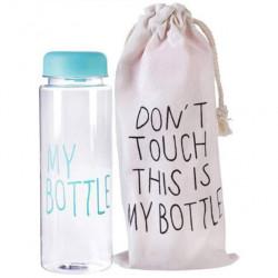 Бутылка для напитков Baziator My bottle - май ботл с мешочком 500 мл голубая