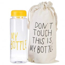 Бутылка для напитков Baziator My bottle - май ботл с мешочком 500 мл желтая