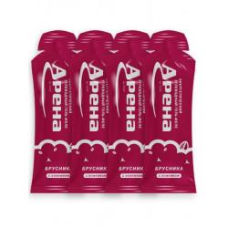 Энергетический гель Арена Первая с кофеином, со вкусом брусники, 4 штуки